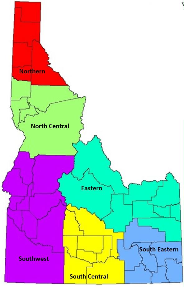 Idaho state regions